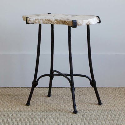 Petrified Slab Side Table 3