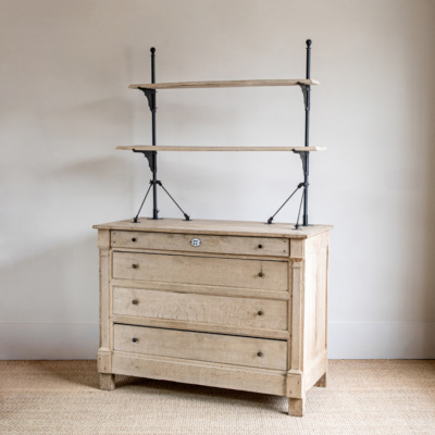 Bleached Oak Chest with Shelves 5