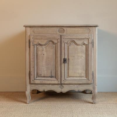 """Antique 37"""" Oak 2 Door Cabinet"""