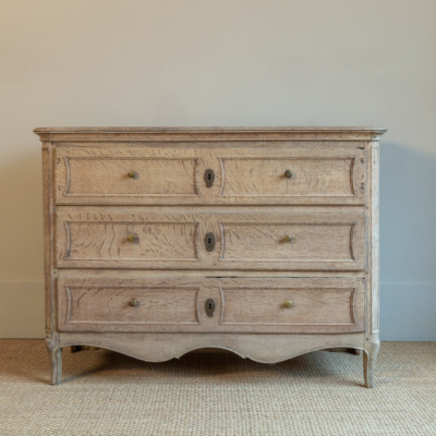 "Antique 47"" Bleached Oak Chest"