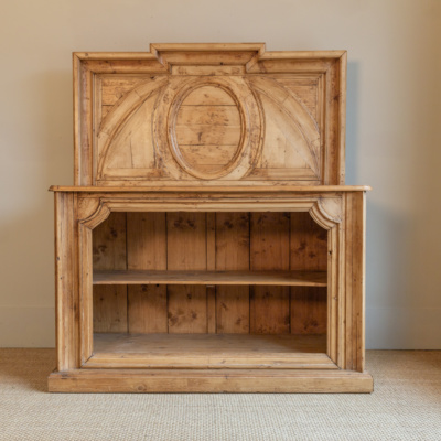 Antique Oak Bookcase Buffet