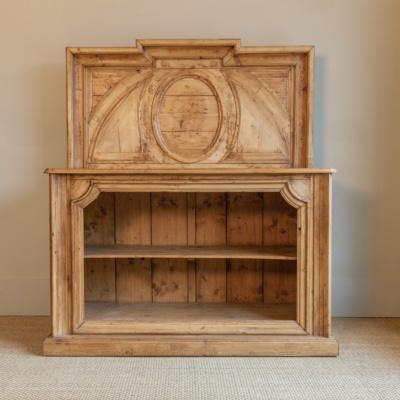 Antique Oak Bookcase Buffet