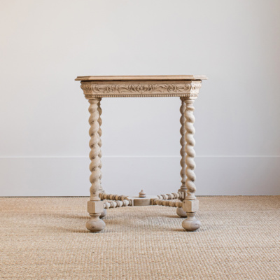 Antique Oak Side Table 3