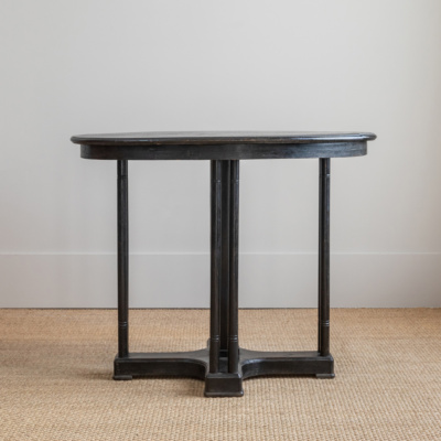 Black Oval Thonet Table