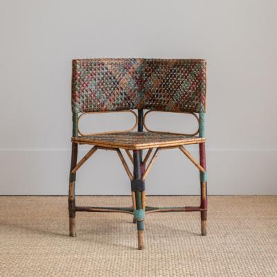 Corner Rattan Side Chair