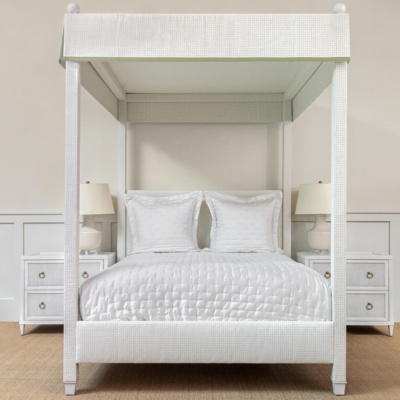 Courtney Upholstered Canopy Bed 3