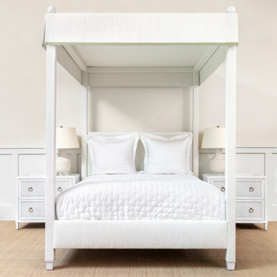 Courtney Upholstered Canopy Bed
