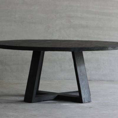 Reclaimed Elm Plank Table - X Base 27