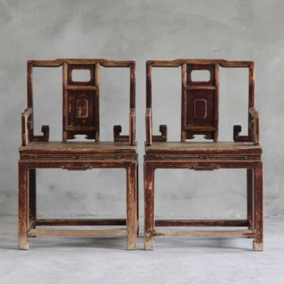 PAIR OF ANTIQUE ARMCHAIRS-PRICE PER PIECE-SOLD AS PAIR 7