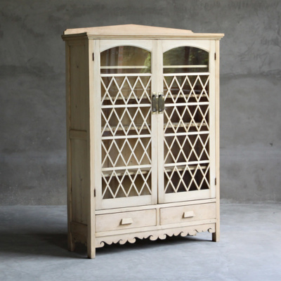 ANTIQUE DISPLAY CABINET 14