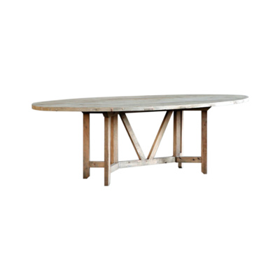 REEDITION FRENCH FARM TABLE (ELLIPTICAL OVAL) 16