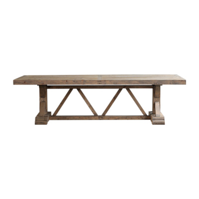 Salvaged Wood Trestle Table - 7 foot 22