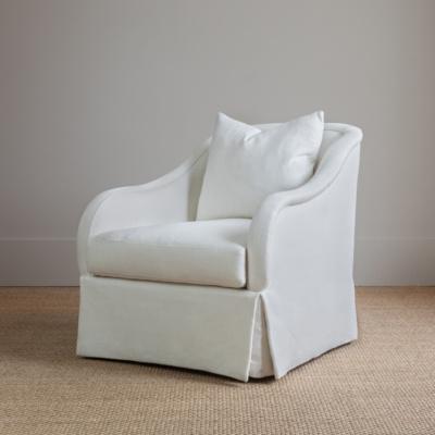 Marcel Skirted Swivel Chair 5