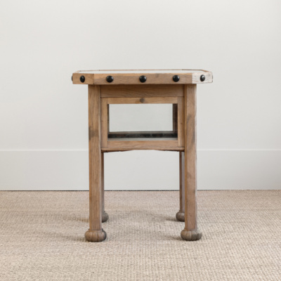 Octagon Side Table with Studs