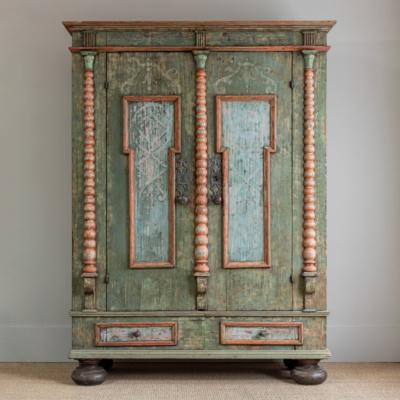 Swedish Painted Wood Cabinet